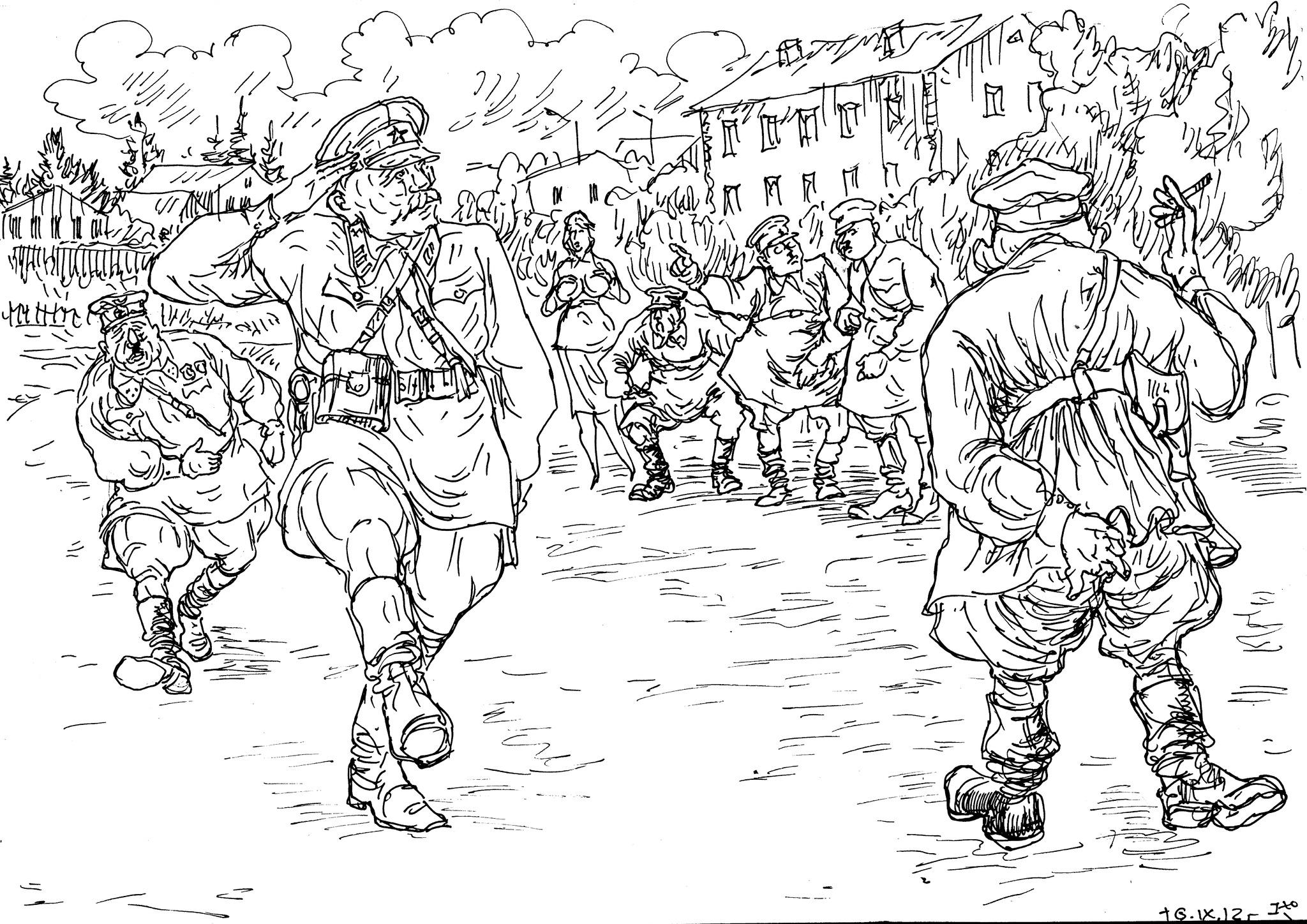 Охота на ведьм. Строевая подготовка, отдание чести — тот самый оселок, на котором ловят бывших офицеров