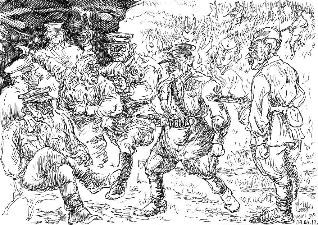 Бойцы, брошенные своими полководцами, тысячами сдавались в плен