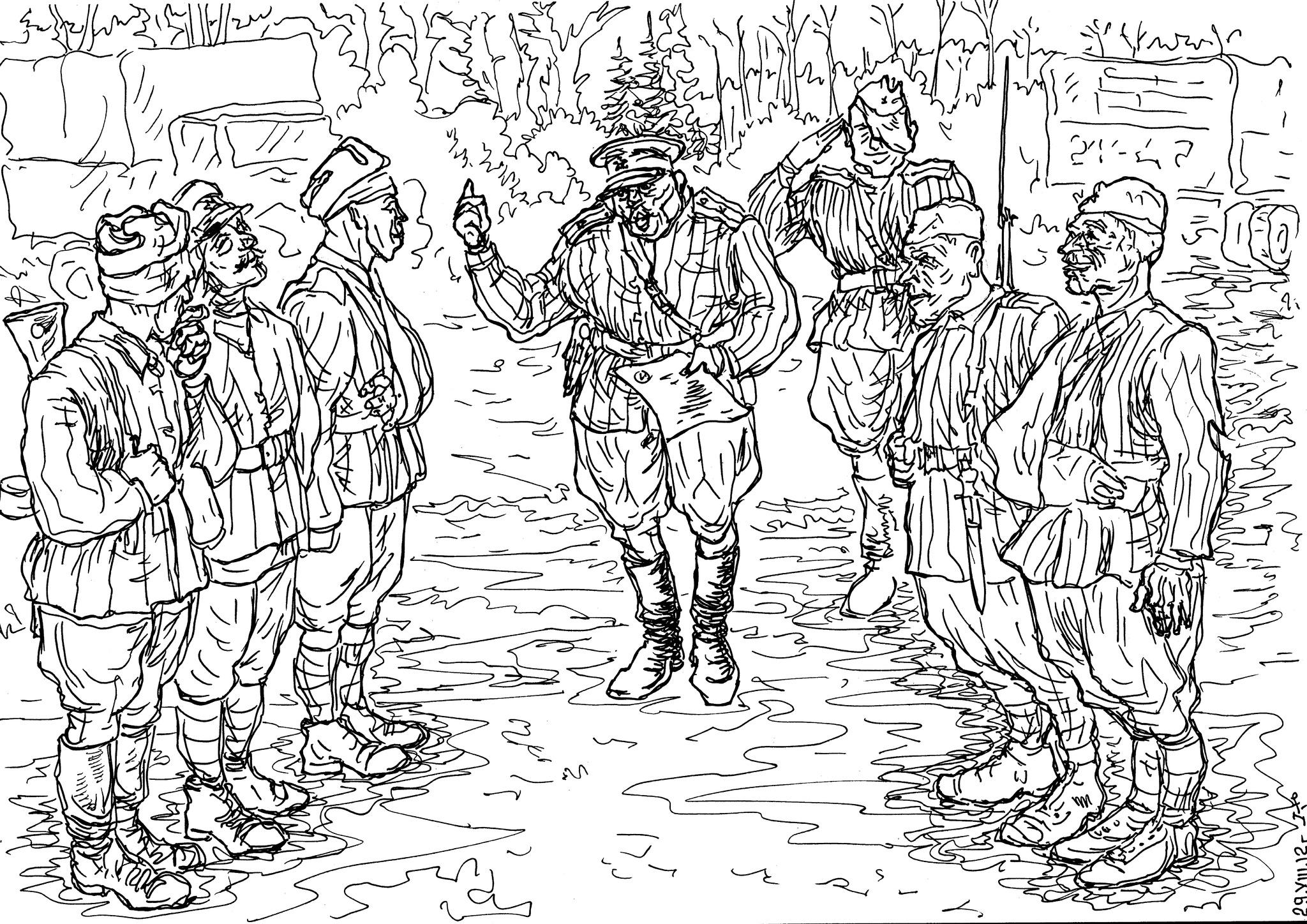 Читка приказа об освобождении из штрафной роты (батальона)