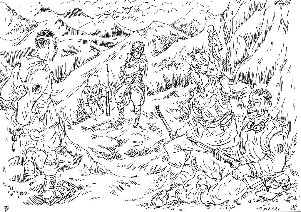 Казаки Терского Казачьего Войска и горные стрелки Вермахта