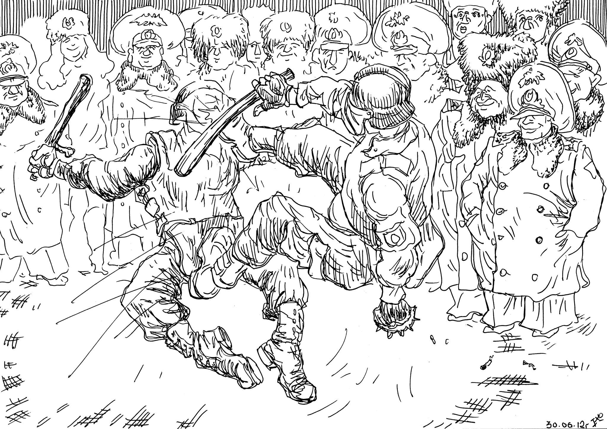 Ментовские гладиаторские сражения