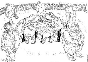 Опричники и их дворня («без чада и домочадца»)