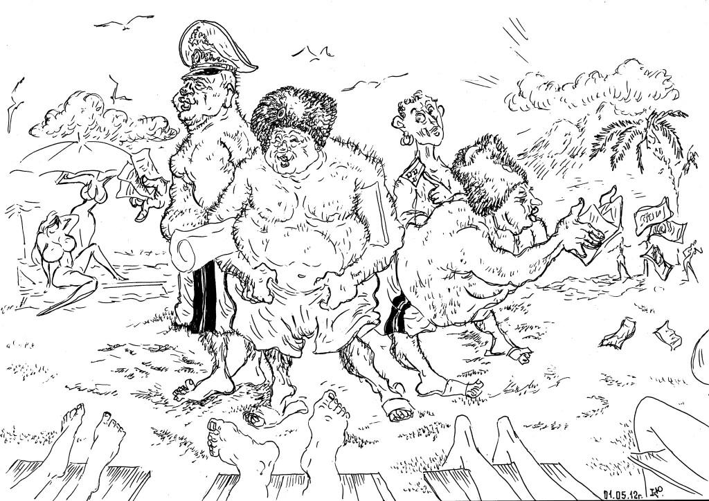 Военачальники прибыли на берег Индийского Океана «помыть сапоги»