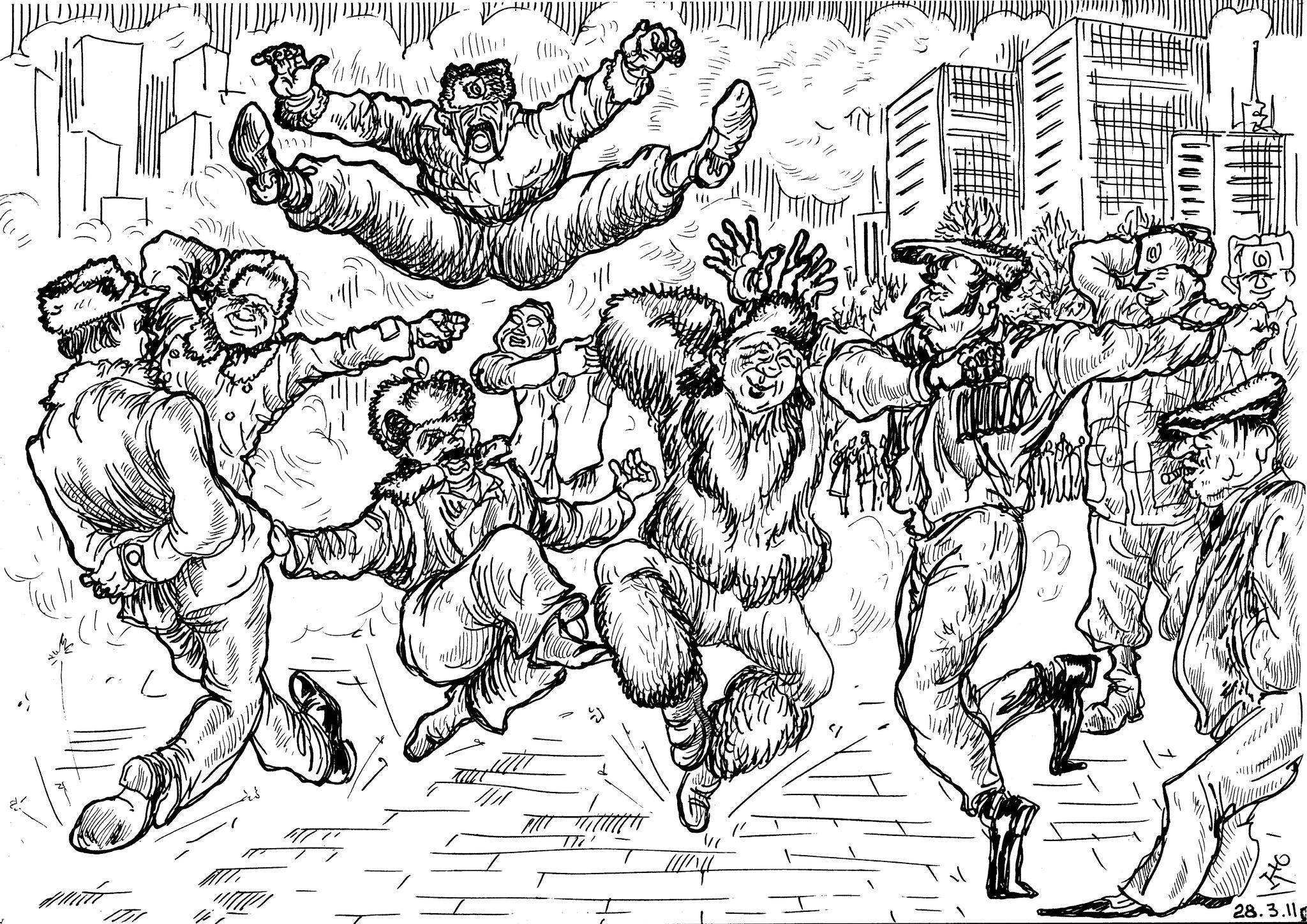 Хореография на улицах городов бывшего СССР — она так «сближает»…