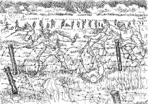 Тактика прорыва: впереди гренадёры, за ними вплотную сапёры
