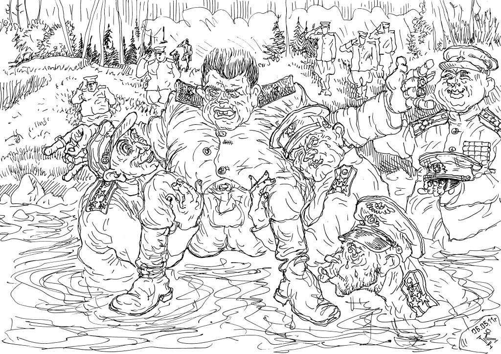 Форсирование водной преграды Полководцем