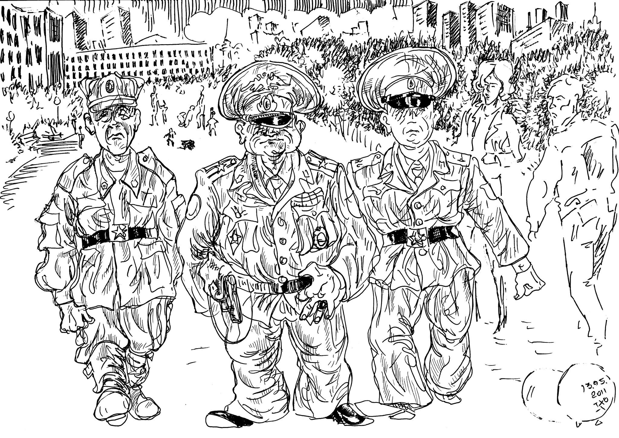 Не гарнизонный  патруль, а какие-то пленные