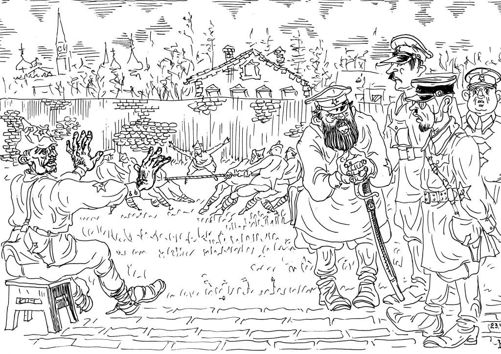 Подготовка красных командиров — занятия по перетягиванию каната
