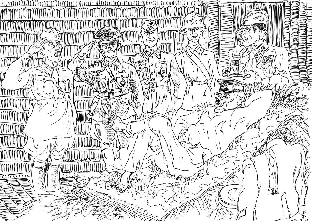 Приём германских парламентёров «августейшим полководцем»