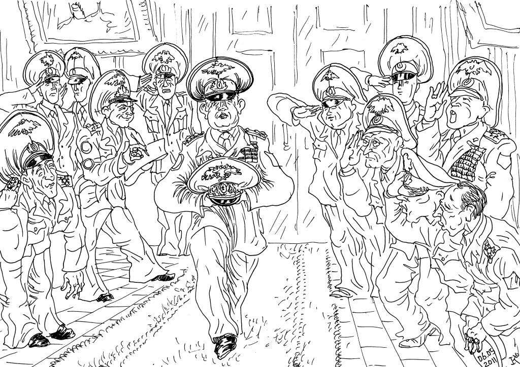 Вместо полководца-начальника Управления прибыл его «августейший головной убор»