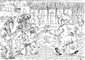 Дирижёр-новатор проводит занятия с личным составом военоркестра по сольфеджио