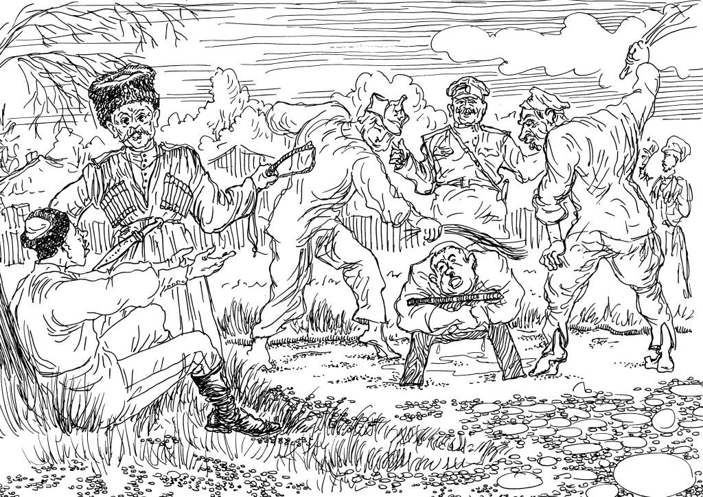 Пленные большевики порой сами своих секли от души, а это обычное свойство льстецов