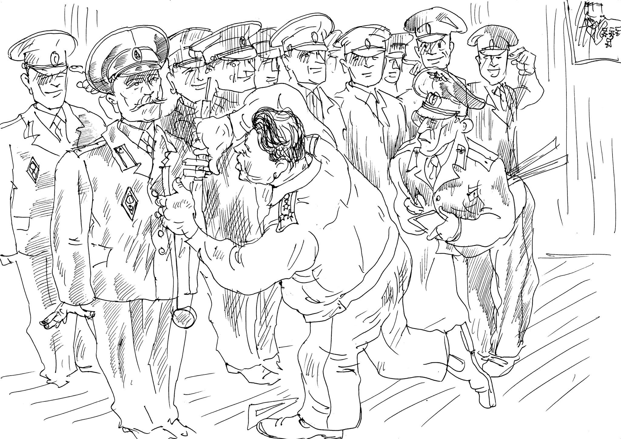 Штангенциркуль (или линейка) в руках полководцев