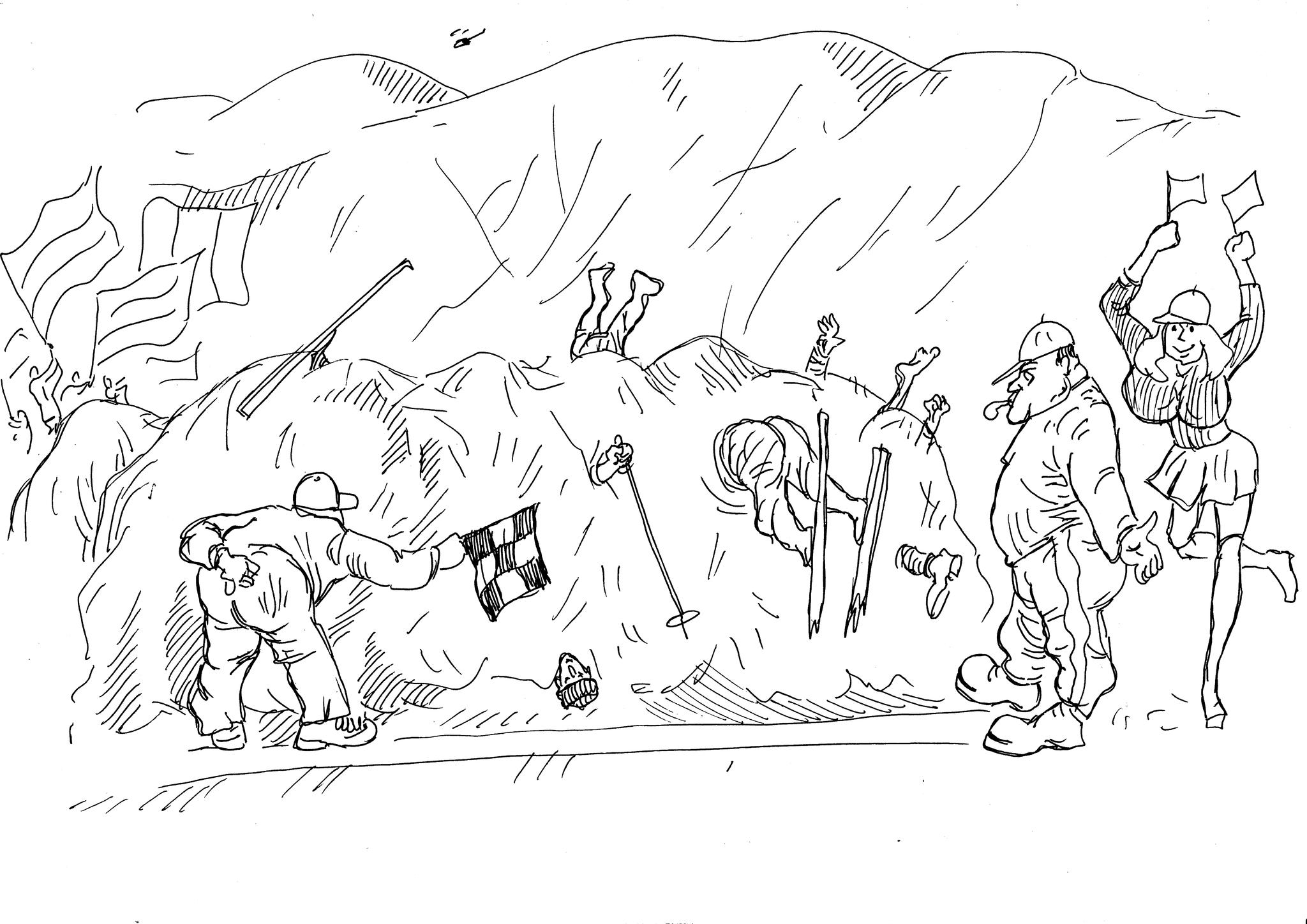 Все лыжники финишировали одновременно