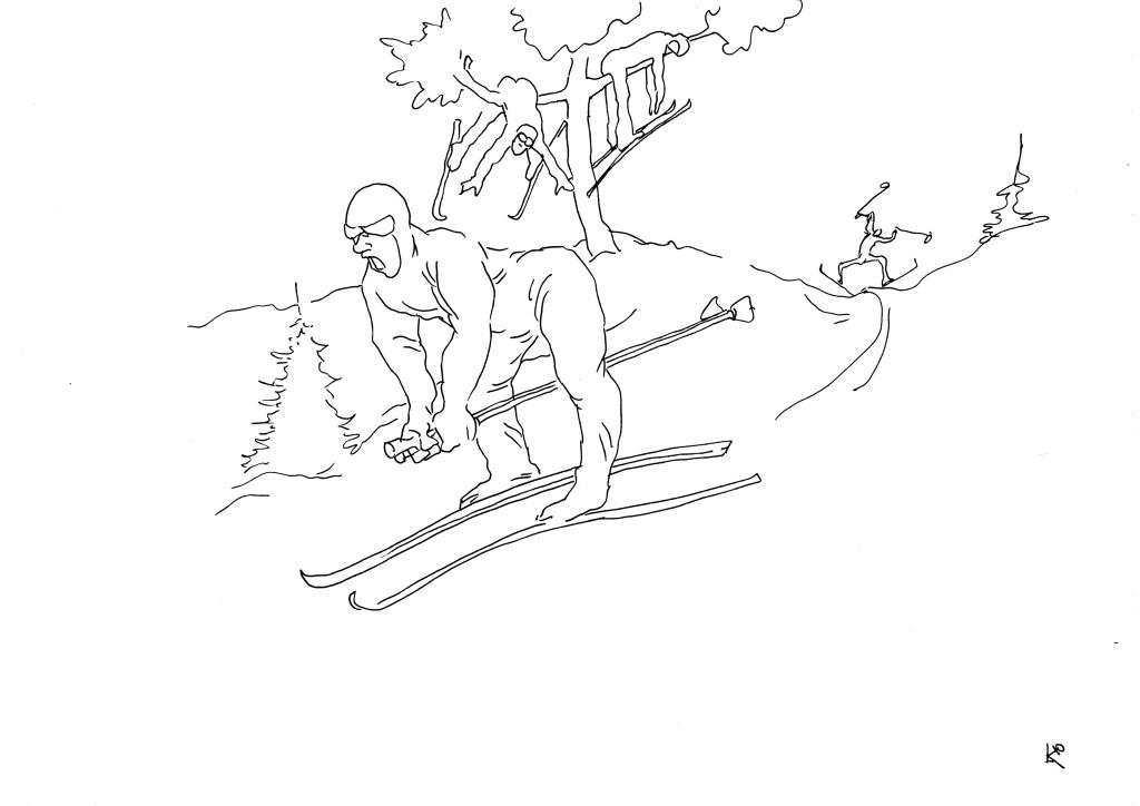 Вторая палка сделала из человека лыжника