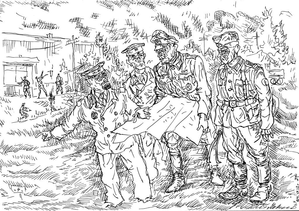 Военная проводная связь обеспечивала связь на уровне взвод-рота-батальон-полк-дивизия…