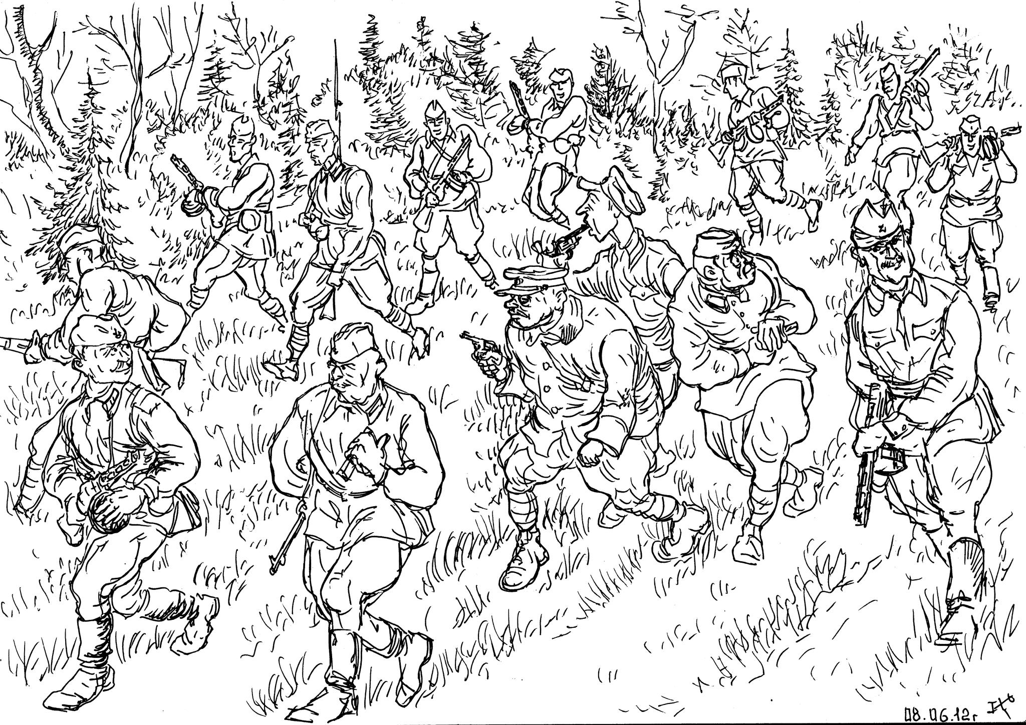 Попав в окружение военачальники сняли знаки различия, а партбилеты и удостоверения личности спрятали под стельки обуви