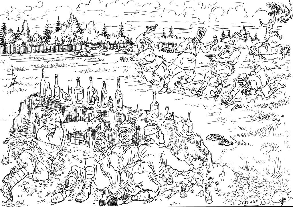 Красные полководцы не забывали завет С.О.Макарова и даже на отдыхе занимались огневой подготовкой