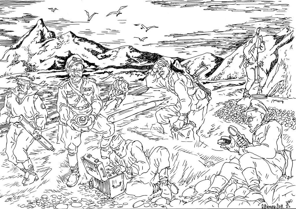 После войны в дельте рек Лена и Енисей, на Таймыре и Новой Земле были обнаружены военные объекты