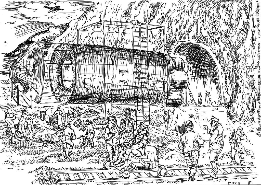 Во-время Великой Отечественной войны Германия располагала технологией, позволяющей двигаться под землёй