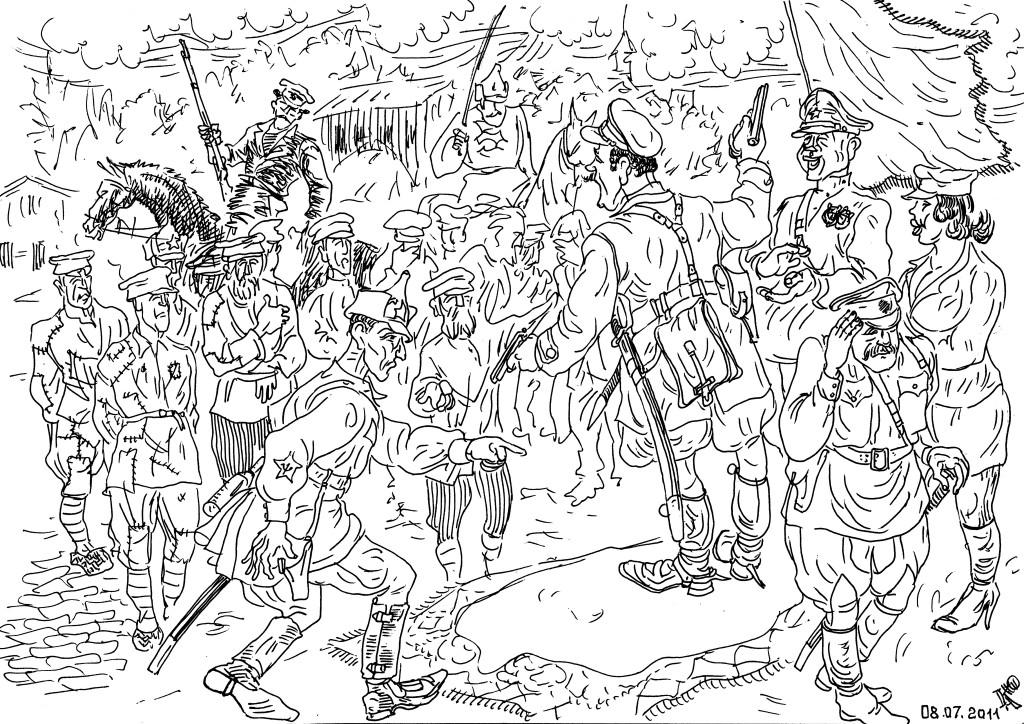 Созданная Троцкий-Бронштейном армия была армией рабов под непосредственным управлением вождей Красной Армии