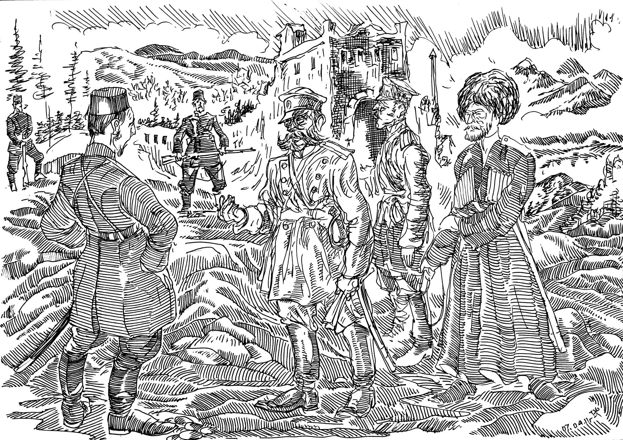 Всё это могло быть нашим, ведь войска Н.Н.Юденича много сделали для того, чтобы флаг России гордо реял над этими благодатными землями