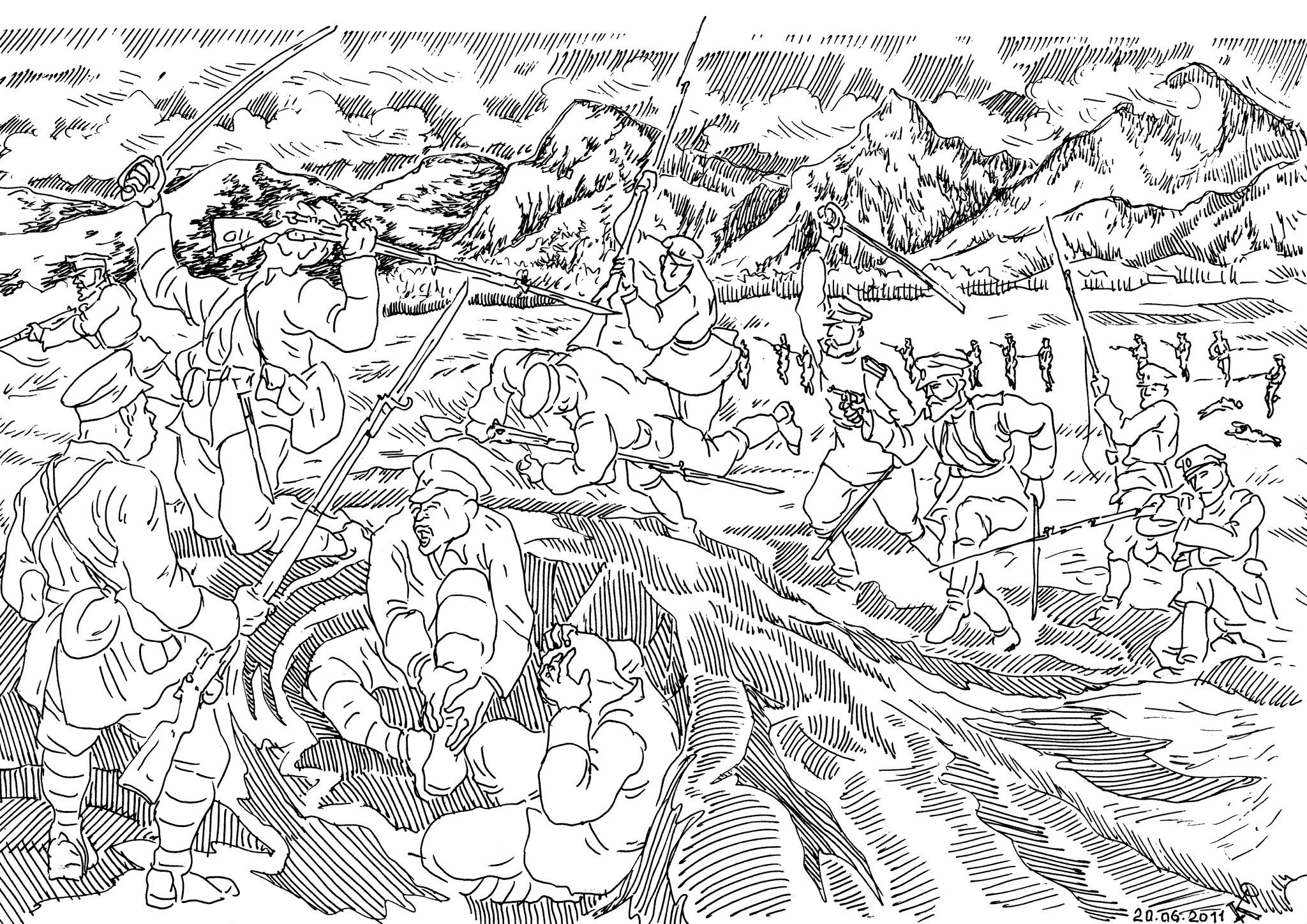 Русско-японская Война 1905 года. Русская винтовка хорошо подходила для рукопашного боя