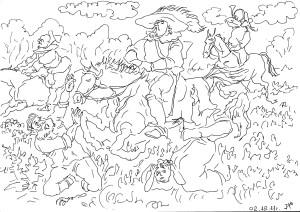В населённых районах посевы часто вытаптывали кони охотящихся дворян