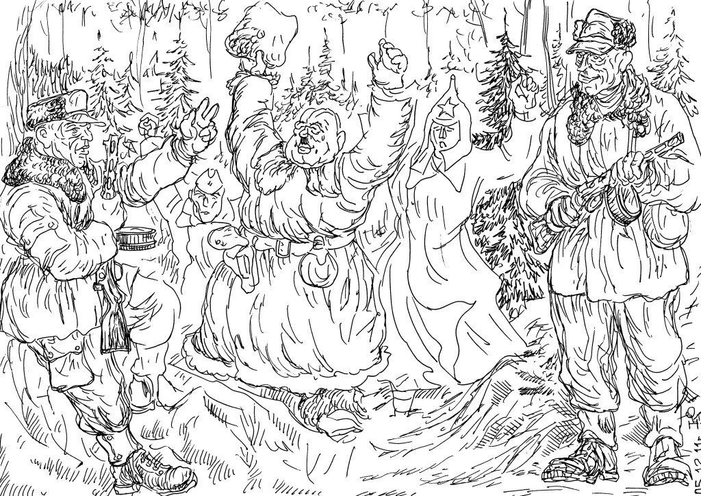 Советско-финляндский конфликт. Финны встречают сдающихся в плен командира РККА и красноармейцев