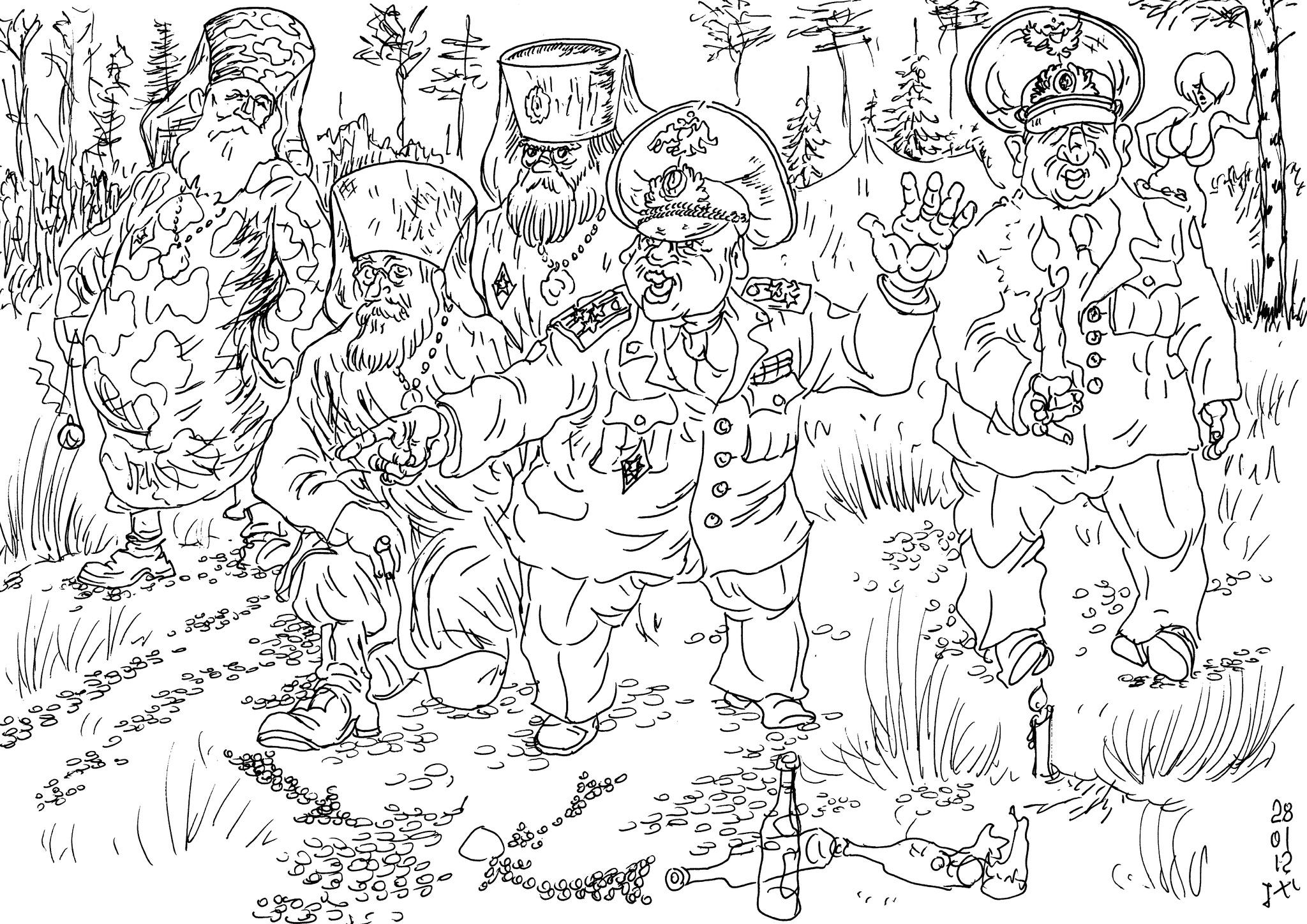 Рекогносцировка с военно-полевыми священниками, девочками и шампанским