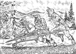 Строительство БАМа железнодорожными войсками