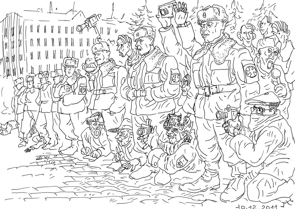 Солдаты Внутренних Войск — дети тех, кого власть считает быдлом — в оцеплении
