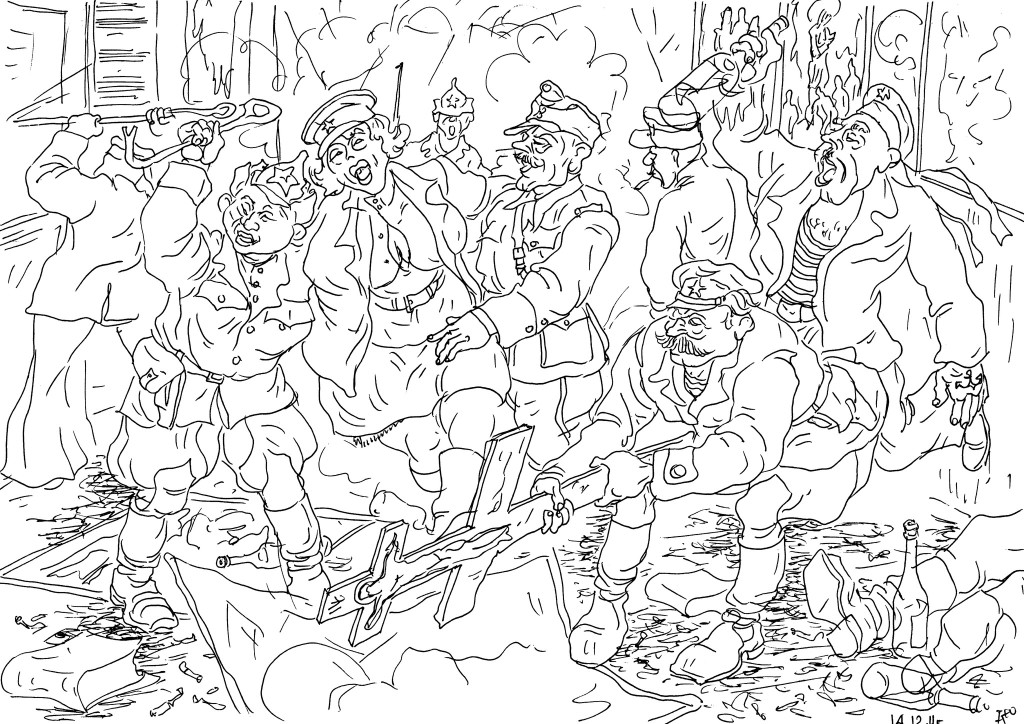 Революционеры-чекисты крушат и уничтожают Храмы