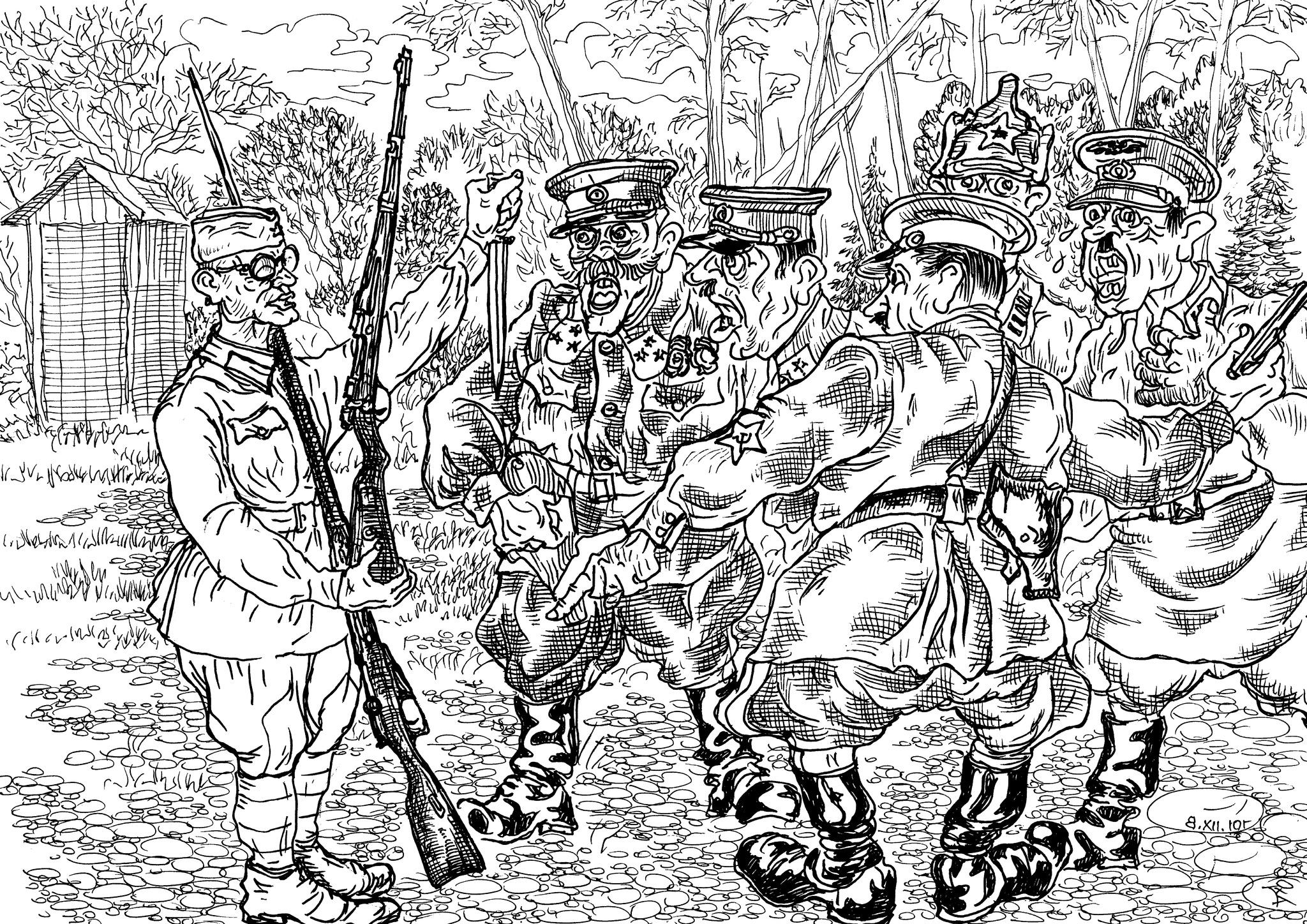 Инженер-ополченец объясняет, отчего немецкая пехота избегает штыкового боя