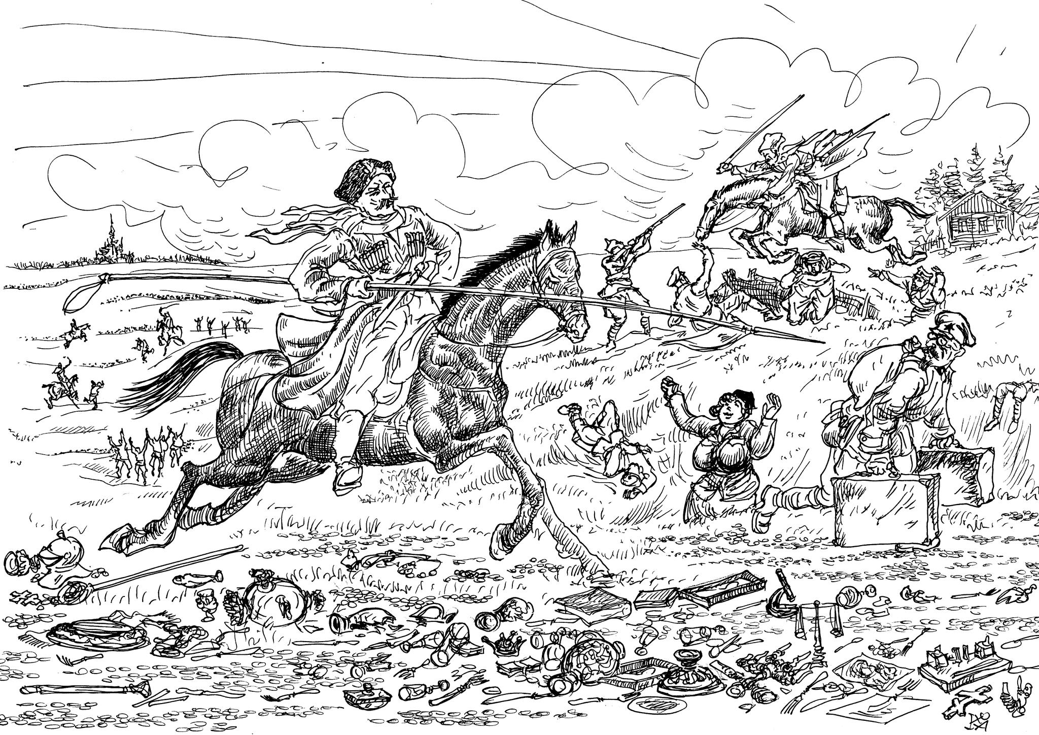 Казаки отбили у комиссаров то, что комиссары награбили в музеях, церквях и у населения