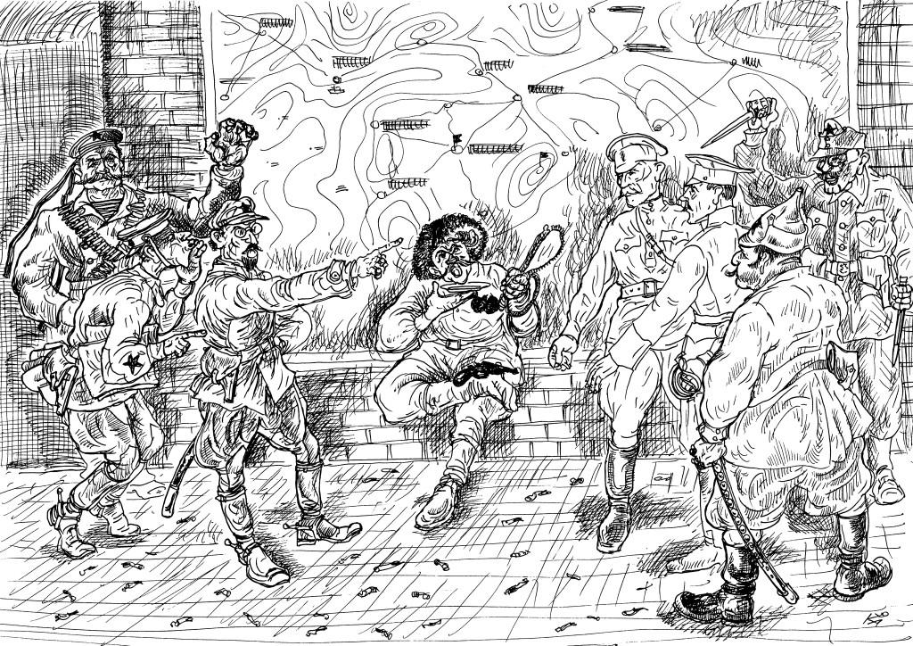 Комиссары и командиры из вчерашних солдат и унтерофицеров ставят задачи военспецам и следят за их выполнением