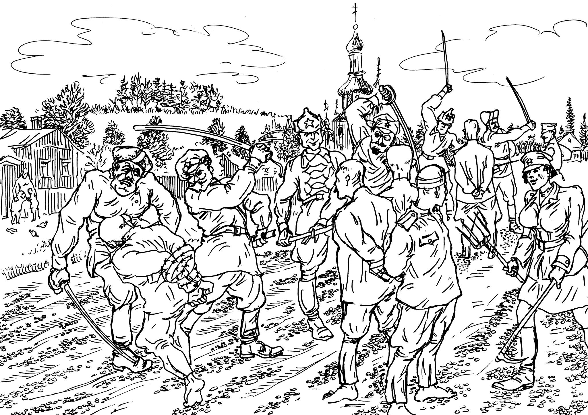 Захваченных в плен офицеров обычно поднимали на вилы, а до этого издевались, как могли, изощрённо и «мастерски»