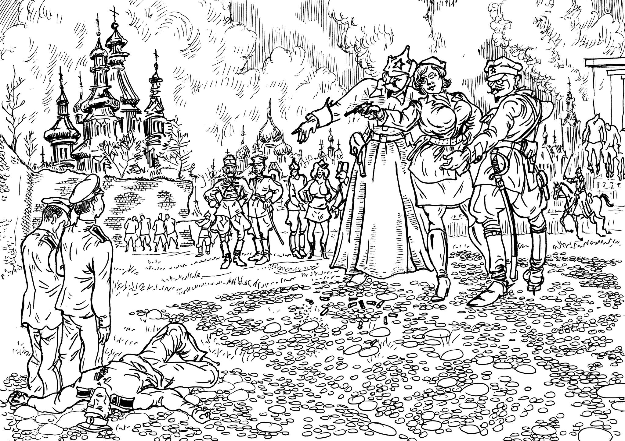 Комиссары мало ели и почти не спали: уничтожали дворян, купцов, офицеров, инженеров, крестьян, и специалистов