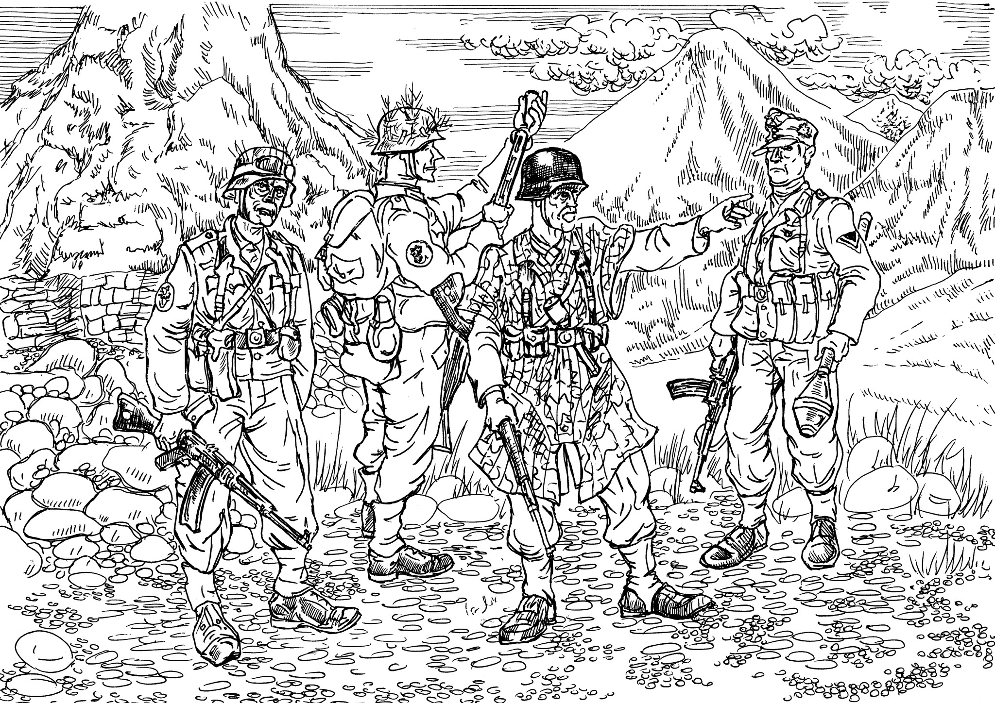 Горные стрелки (на правом рукаве выше локтя — «Эдельвейс»)
