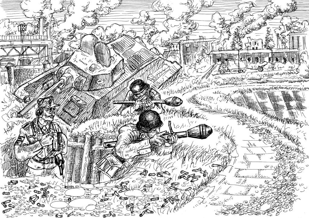 Позиция бойцов, вооружённых «Панцерфауст» 60 М