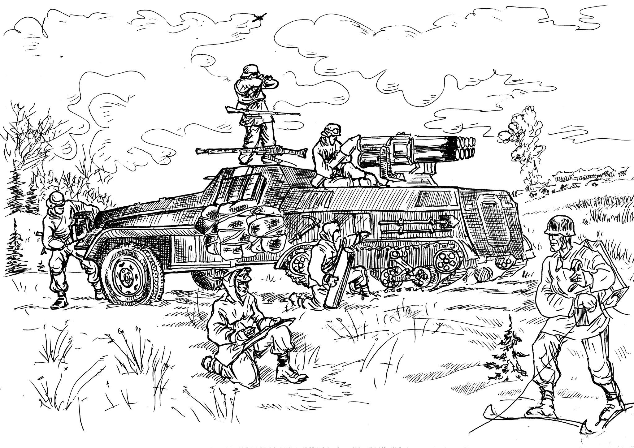 «Panzerwerten 42» — 150 мм самоходная PC30 реактивная система залпового огня
