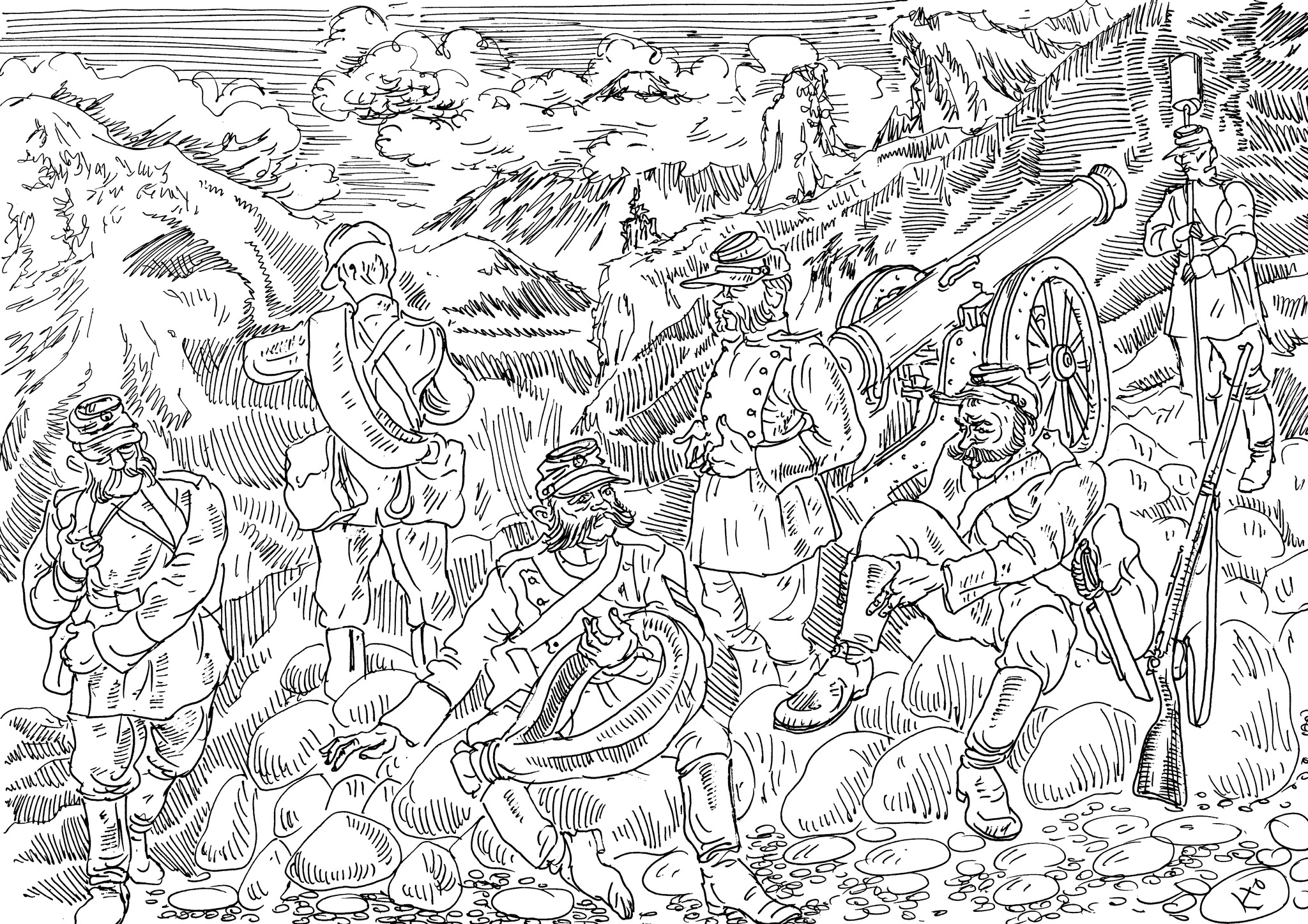 Где пройдёт олень — там пройдёт русский солдат. Там, где не пройдёт олень, все равно пройдёт русский солдат (А.В. Суворов)
