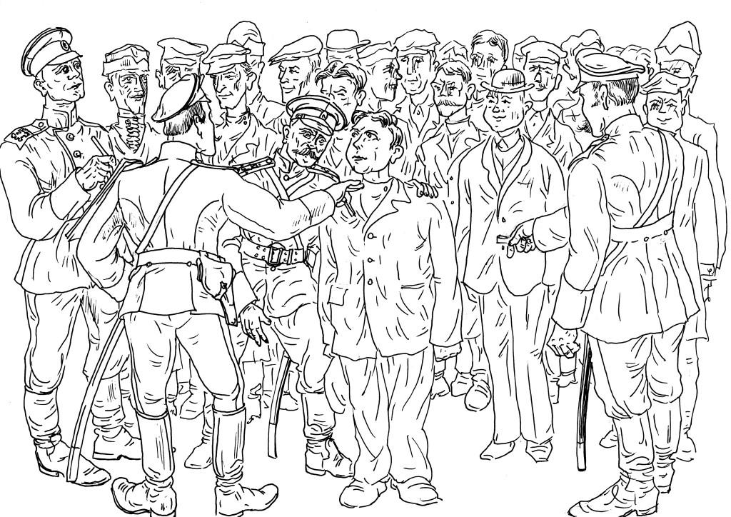1900-е годы. Русская Армия. Строевой расчёт. Распределение новобранцев