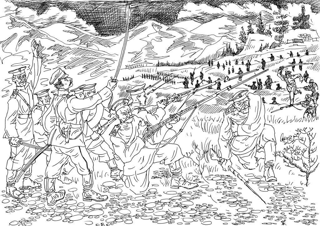 Лучшие солдаты, самых подготовленные солдаты Русской Императорской Армии отправлены в действующую Армию