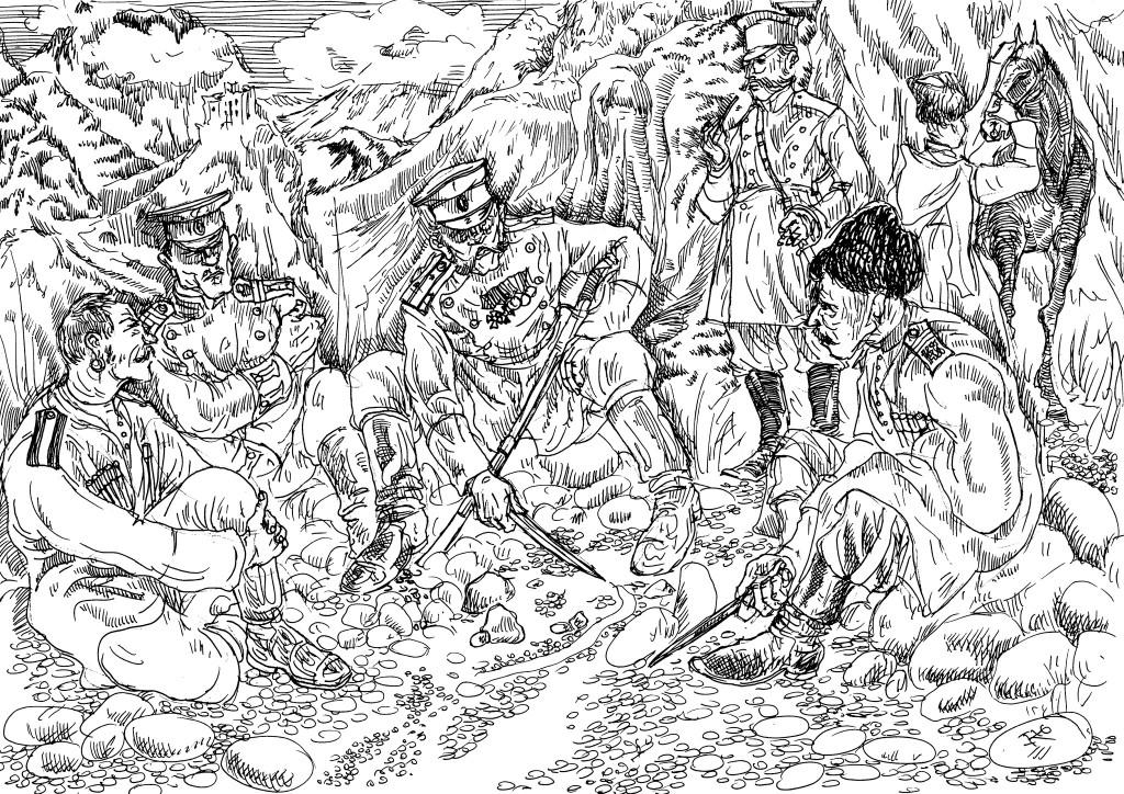 Войны с горцами. Совместные действия Русской пехоты с казаками