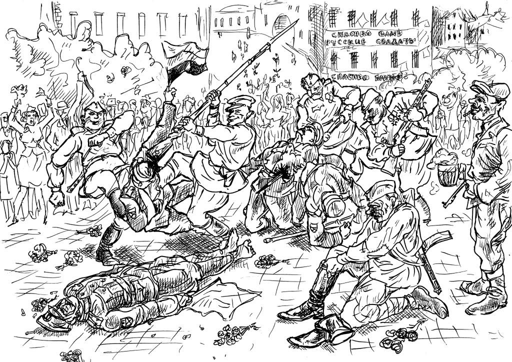 Пражане предали своих освободителей, первыми пришедшими им на помощь