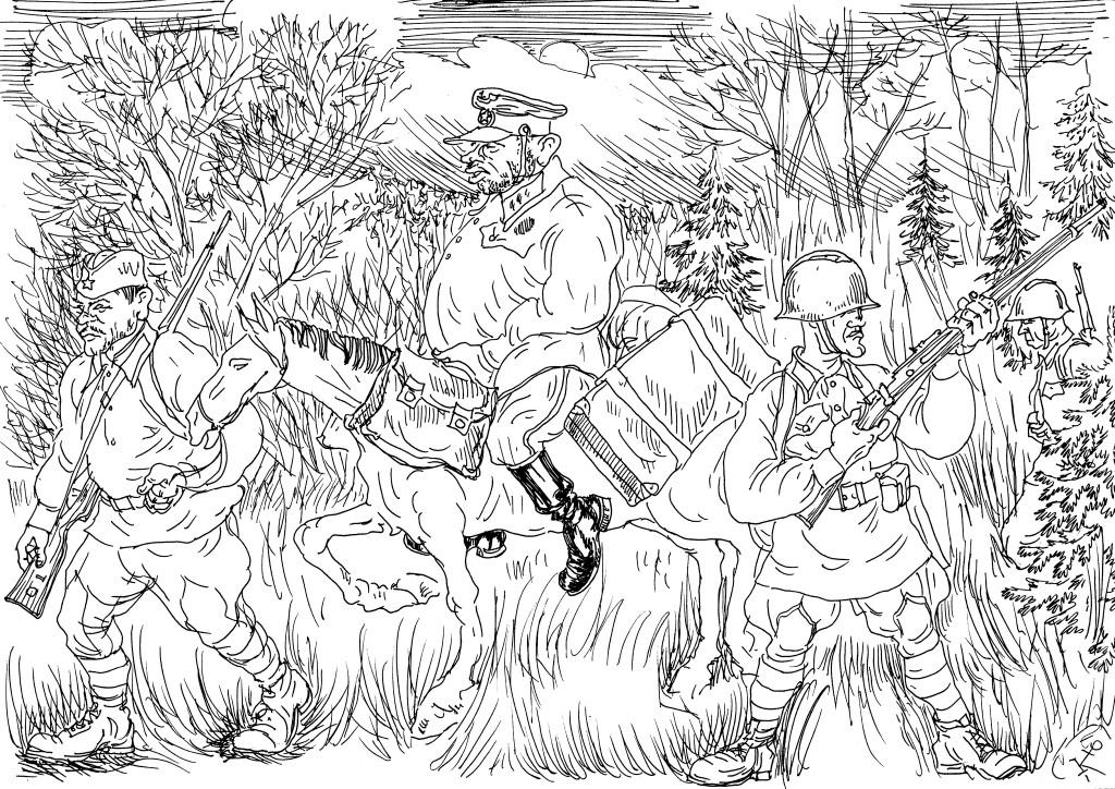 Попавшие в окружение бойцы «тащат» особиста