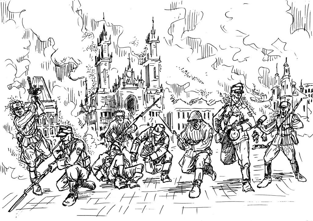 Вторая Мировая война. Освобождение Праги бойцами дивизии Буняченко