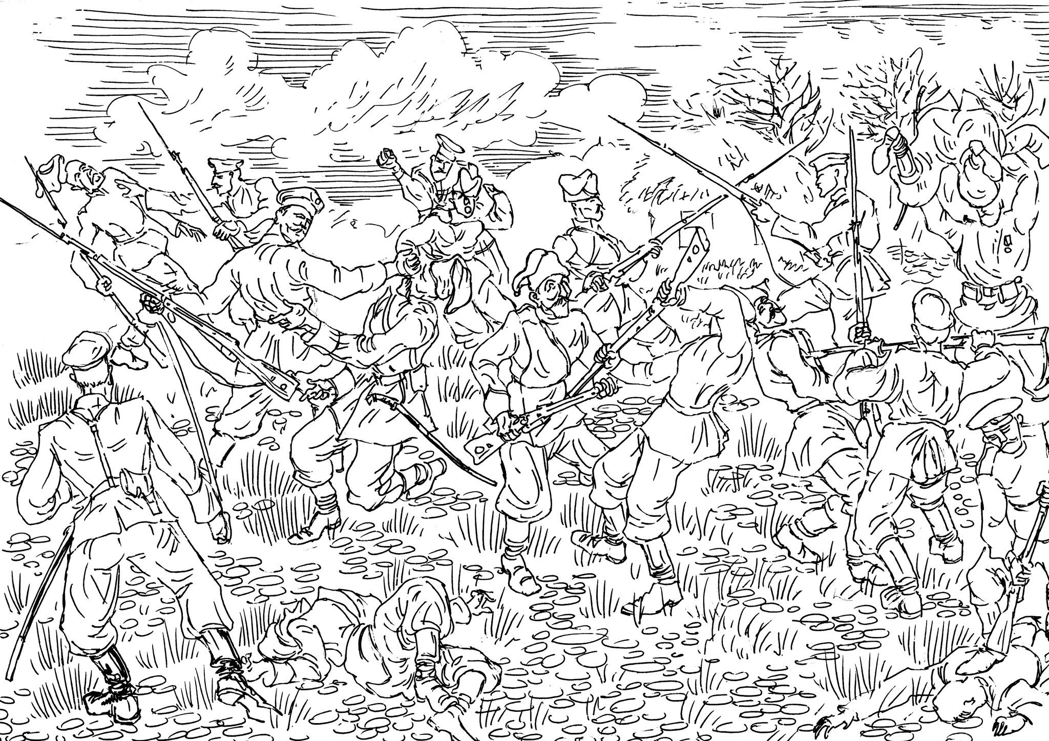 Русская пехота не имела равных в рукопашном  бое