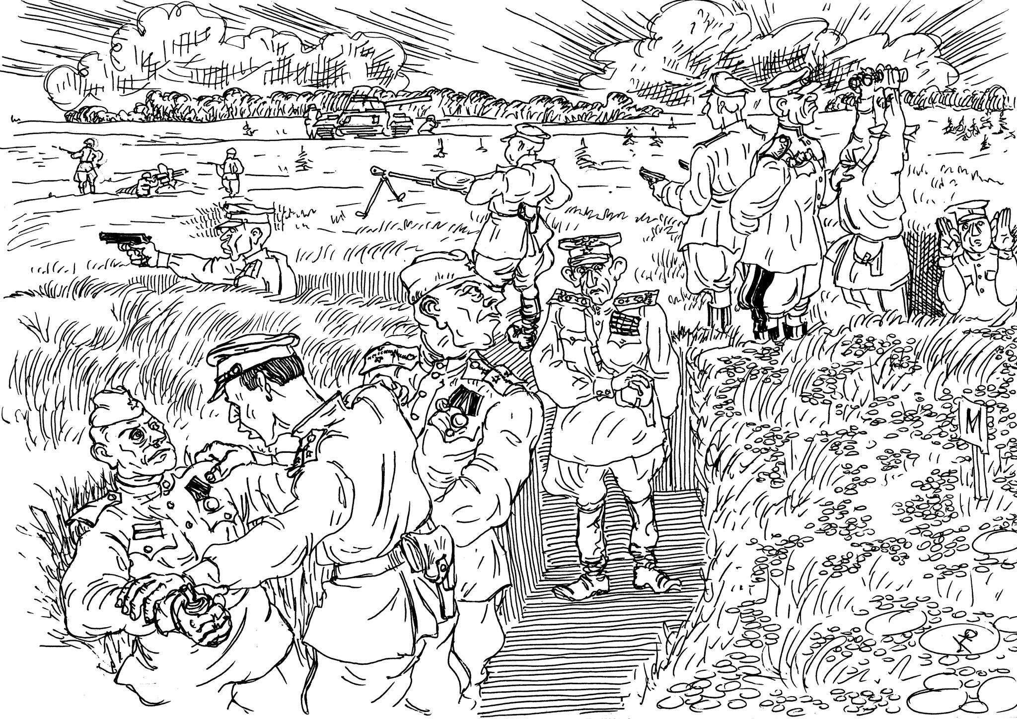 При посещении очередным полководцем частей РККА солдат хотел отомстить убийце-полководцу